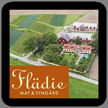 Flädie Mat & Vingård stamp